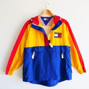 Vintage Yellow Tommy Hilfiger Rain Jacket
